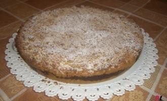 Torta sbriciolata ricotta e nutella