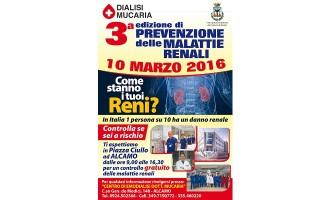 """Alcamo: il 10 marzo il Centro Emodialisi in piazza per la """"Giornata Mondiale del Rene"""""""