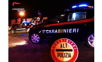 Alcamo, maxi controllo dei Carabinieri: 1 arresto, 4 denunce, 3 segnalazioni e 31 contravvenzioni