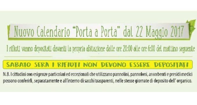 Campobello: da martedì il nuovo calendario rifiuti