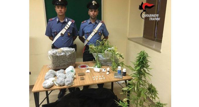 Marsala: supermarket della droga in casa, pantesco arrestato dai Carabinieri