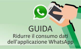 Ridurre il consumo dati dell'applicazione WhatsApp