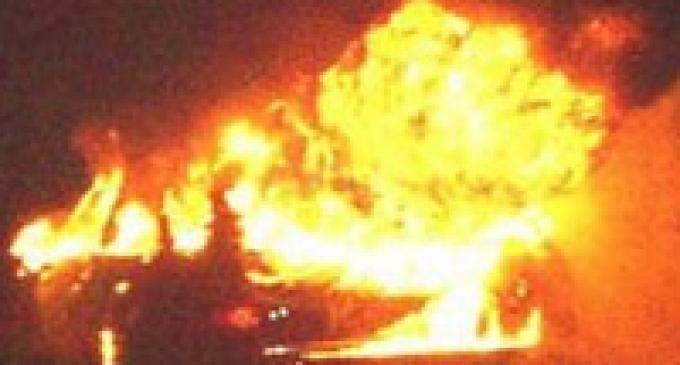 Valderice: a fuoco auto dell'ufficio tecnico, probabile la matrice dolosa