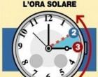 Stanotte si ritorna all'ora solare