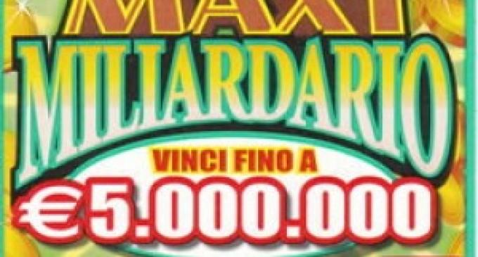 Realizzata in provincia di Palermo vincita da 5 milioni di euro con una gratta e vinci