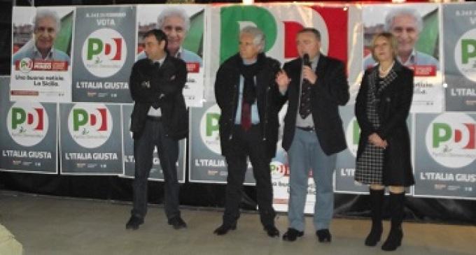 Partanna: manifestazione elettorale del PD, presente il giornalista Corradino Mineo