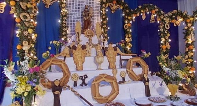 Partanna: altare di San Giuseppe all'Istituto comprensivo Amedeo di Savoia Aosta