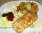 …Le Delizie del Palato: Panzerotti di pollo ripieni con contorno di patate in agrodolce