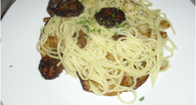 …Le Delizie del Palato: spaghetti con zucchine e melanzane fritte
