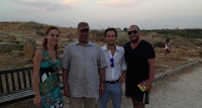 Lo Sceicco di Abu Dhabi in visita al Parco Archeologico di Selinunte