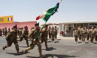 Afghanistan: la bandiera di guerra del 6° reggimento bersaglieri arriva a Herat