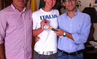 Castelvetrano: il Vice-Sindaco incontra l'atleta Loreta Gulotta