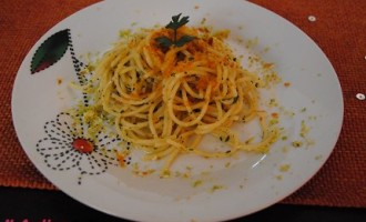 """""""… le delizie del PaLato"""": Spaghetti alla Bottarga di Muggine e scorzetta di limone"""