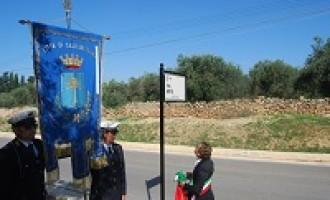 Castelvetrano: scoperta la targa della via Rita Atria