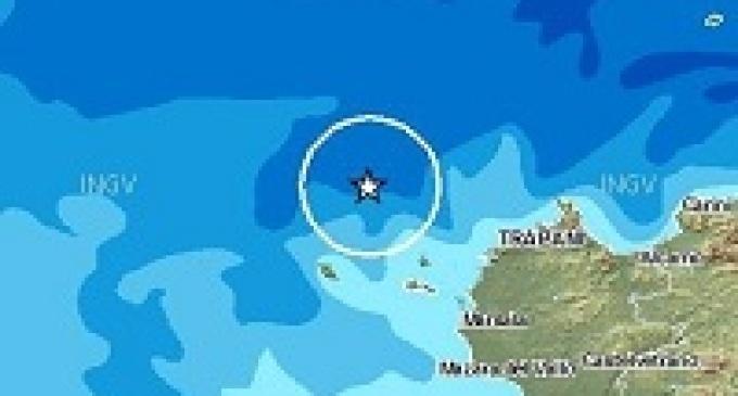 Scossa di terremoto al largo delle coste trapanesi