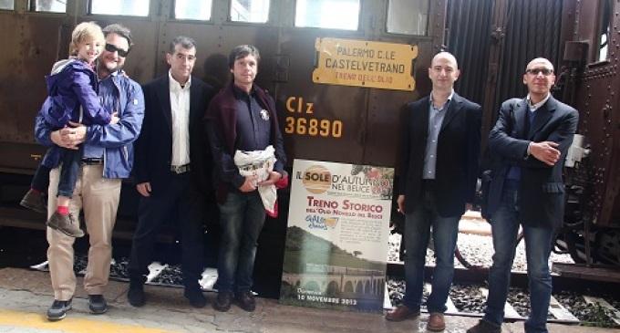 Straordinario successo per il treno storico dell'Olio novello del Belice