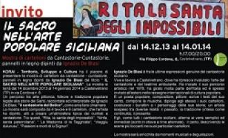Castelvetrano: fino al  14 gennaio mostra del partannese Ignazio De Blasi