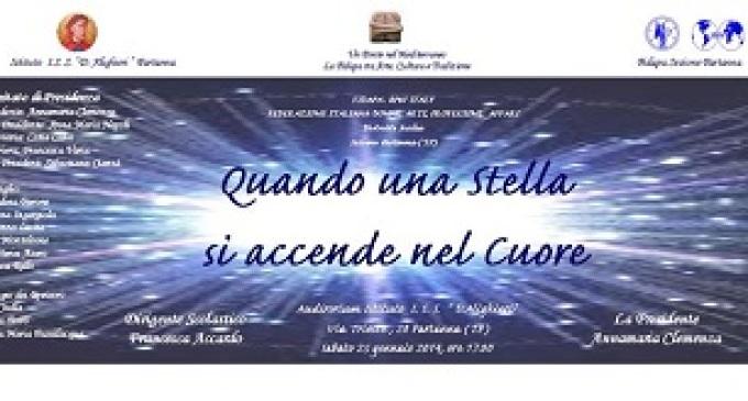 """Partanna: sabato 25 gennaio avrà luogo lo spettacolo """"Quando una Stella s'accende nel Cuore"""""""
