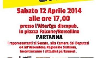Partanna: sabato 12 aprile il M5S incontrerà la cittadinanza presso l'AlterEgo