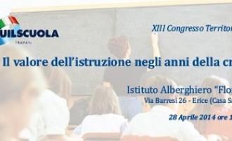 Lunedì il 13° Congresso territoriale Uil scuola Trapani