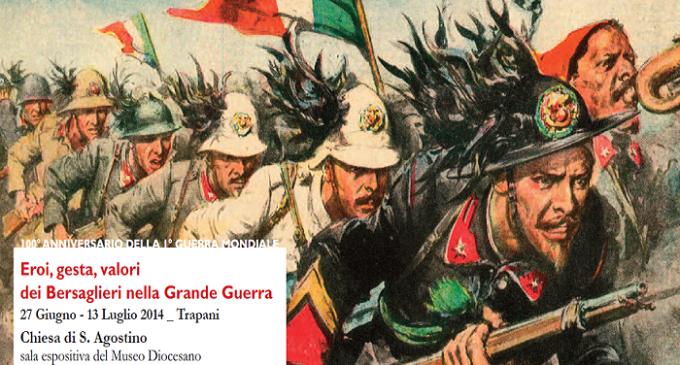 6° Reggimento Bersaglieri di Trapani celebra il centenario dell'inizio della 1° Guerra Mondiale