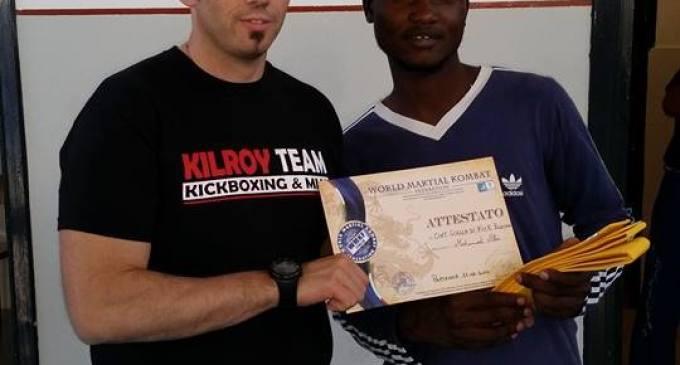 Partanna: Ali Mohamed ha conseguito la cintura gialla di kick boxing