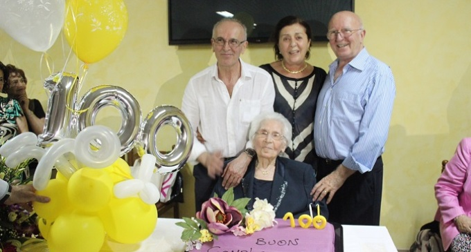 Santa Ninfa: festa per una nuova centenaria