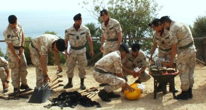 I Bersaglieri del 6° Reggimento di Trapani si addestrano per fronteggiare le pubbliche calamità