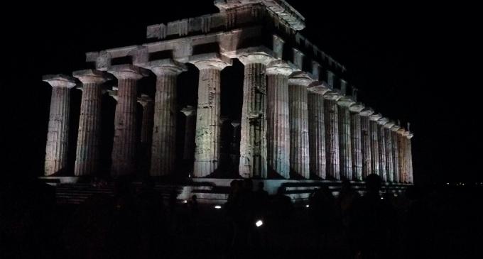 Un migliaio di visitatori hanno goduto del Parco Archeologico di Selinunte illuminato