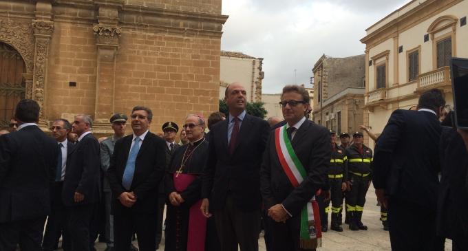 Castelvetrano: il Sindaco ha ricevuto il Ministro dell'Interno Angelino Alfano
