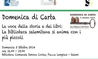 """A Salemi """"Domenica di Carta 2014: la voce della storia"""""""