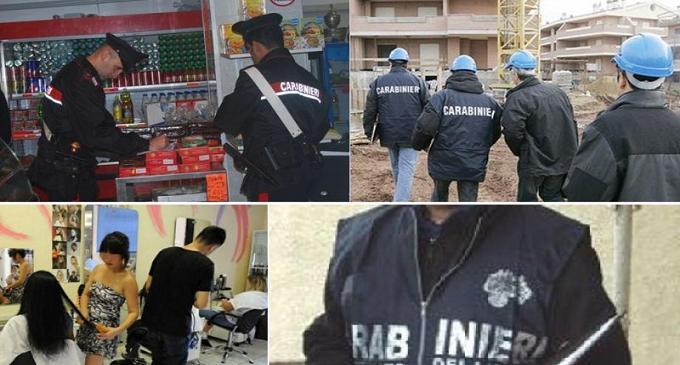 Contrasto dell'Arma al lavoro nero a Trapani e Provincia