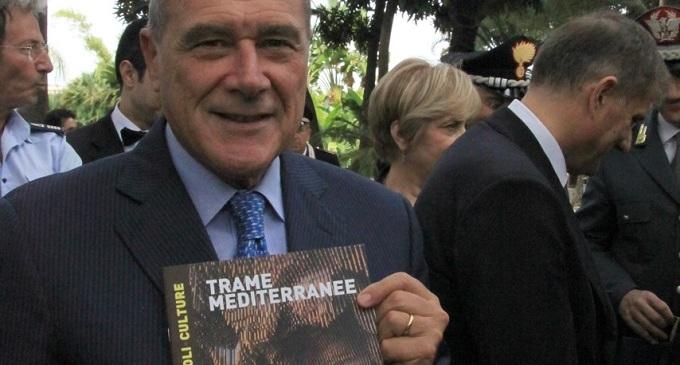 Palermo: visita del Presidente del Senato Grasso alla Mostra Trame Mediterranee