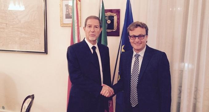 Palazzo Pignatelli: il sindaco Errante incontra il Presidente della Commissione Antimafia On. Musumeci