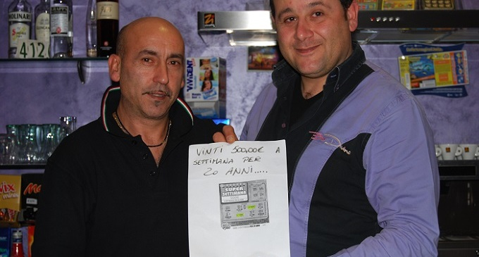 Partanna: vince 520 euro a settimana per 20 anni con un gratta e vinci