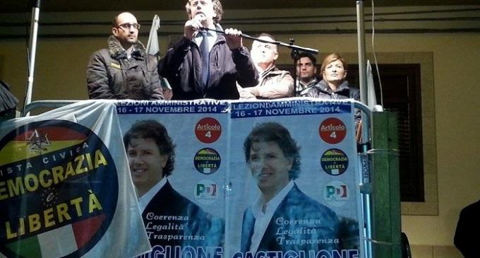 Campobello, candidato Castiglione: Dichiarazioni comizio piazza Nino Buffa