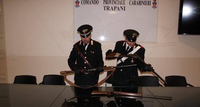 Ruba armi e le nasconde a casa, pregiudicato trapanese arrestato dai Carabinieri