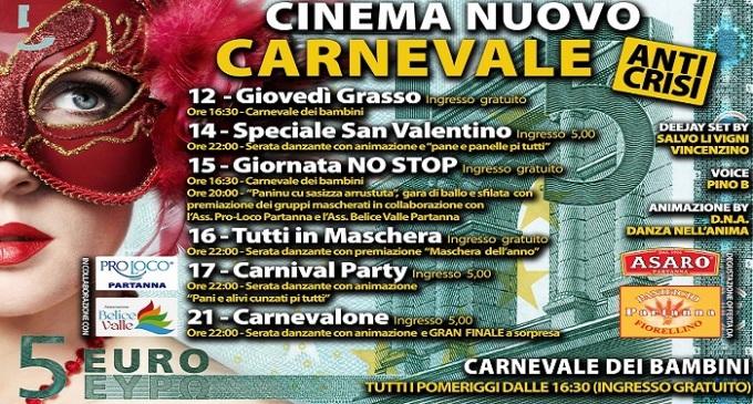 Partanna: appuntamento al Cinema Nuovo per il Carnevalone