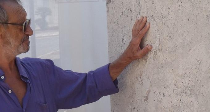 """Gibellina: atto di vandalismo sulla scultura """"IMPRONTA"""" di Turi Simeti"""