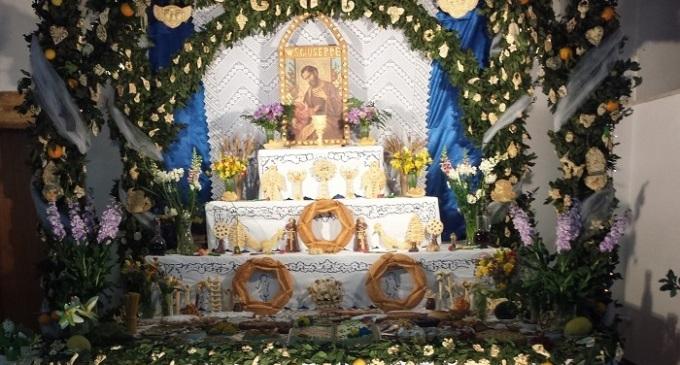 Partanna: Altare di San Giuseppe realizzato dalla Pro Loco