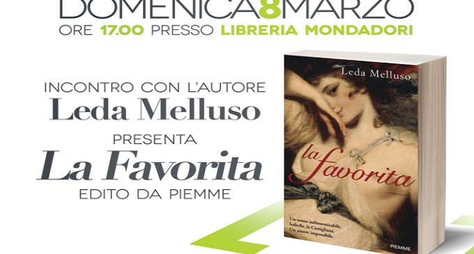 """Leda Melluso presenta il libro """"La Favorita"""" nella Mondadori di Area 14"""