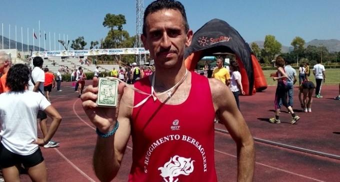 """Un bersagliere del 6° Reggimento di Trapani sul podio della """"Maratona Di Sicilia"""""""