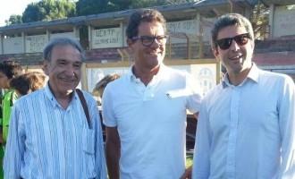 Fabio Capello in visita a Salemi