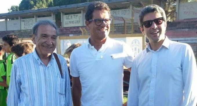 Fabio Capello in visita a Salemi