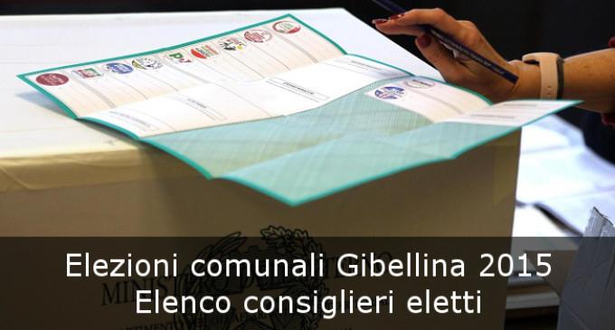 Elezioni Gibellina 2015: la lista completa dei consiglieri eletti