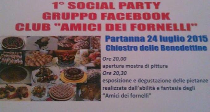 """Il 24 luglio a Partanna il 1° social party gruppo facebook Club """"Amici dei Fornelli"""""""