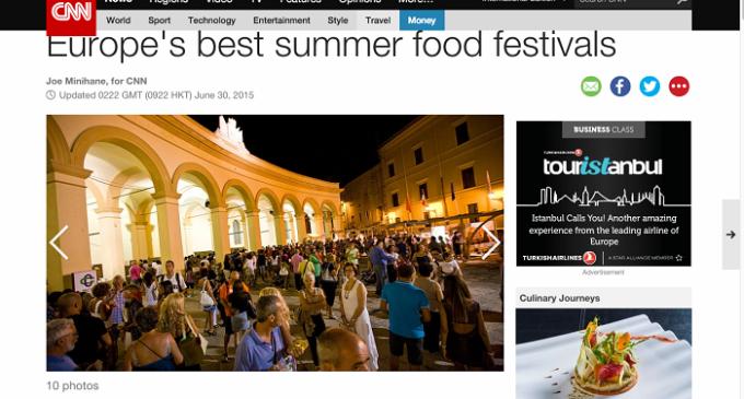 La CNN segnala Stragusto fra i migliori dieci festival  gastronomici dell'estate in Europa