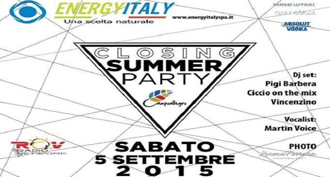 """Sabato 5 settembre """"Closing Campoallegro Summer Party"""""""