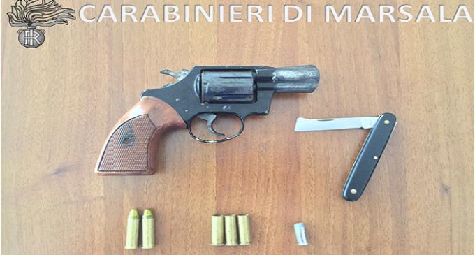 Marsala: non si ferma all'alt perché nascondeva una pistola, raggiunto ed arrestato dai Carabinieri