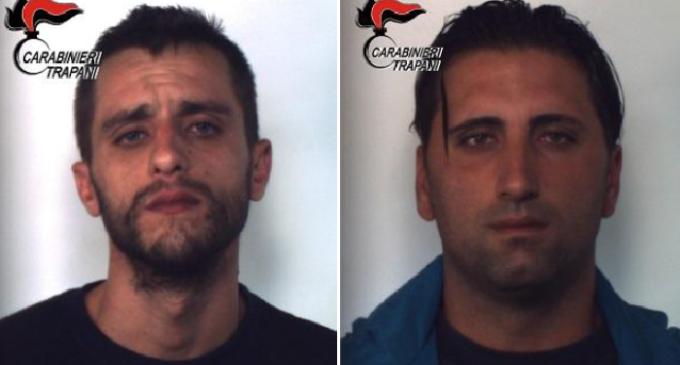 Trapani, controllo del territorio dei Carabinieri: due arresti